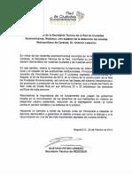 Comunicado Secretaría Técnica de Redcisur (2)