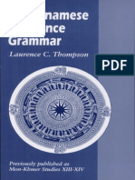 Laurence C Thompson - A Vietnamese Reference Grammar
