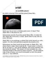 a new planet se