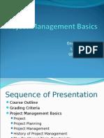 Lecture#1-Project Management Basics(2003)