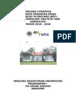 Rencana Strategis Dep Obgyn RS Hasan Sadikin 2014