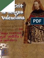 El Crit de la Llengua Valenciana Regne Valéncia Senyera Lo Rat Penat RACV