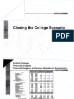 close college scenario financials