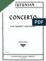 Arutunian Trumpet Concerto