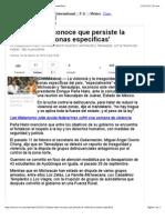 20-02-15 Peña Nieto Reconoce Que Persiste La Violencia en 'Zonas Específicas'