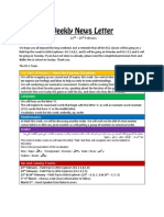 weekly news letter 22-26 feb