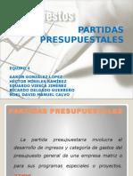 PARTIDAS PRESUPUESTALES