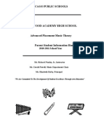 AP Music Theory Parent Student Handbook and Syllabus