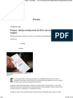 França_ Justiça Ordena Teste de DNA Em Escola Após Estupro - Terra Brasil