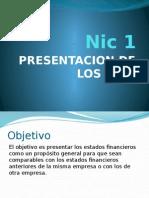 NIC 1, Presentación de EE FF