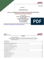 Winners Lok Sabha 2014 Analysis of Criminal and Financial Background Details of Winners