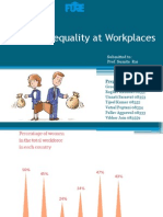 Gender Inequality at Workplaces