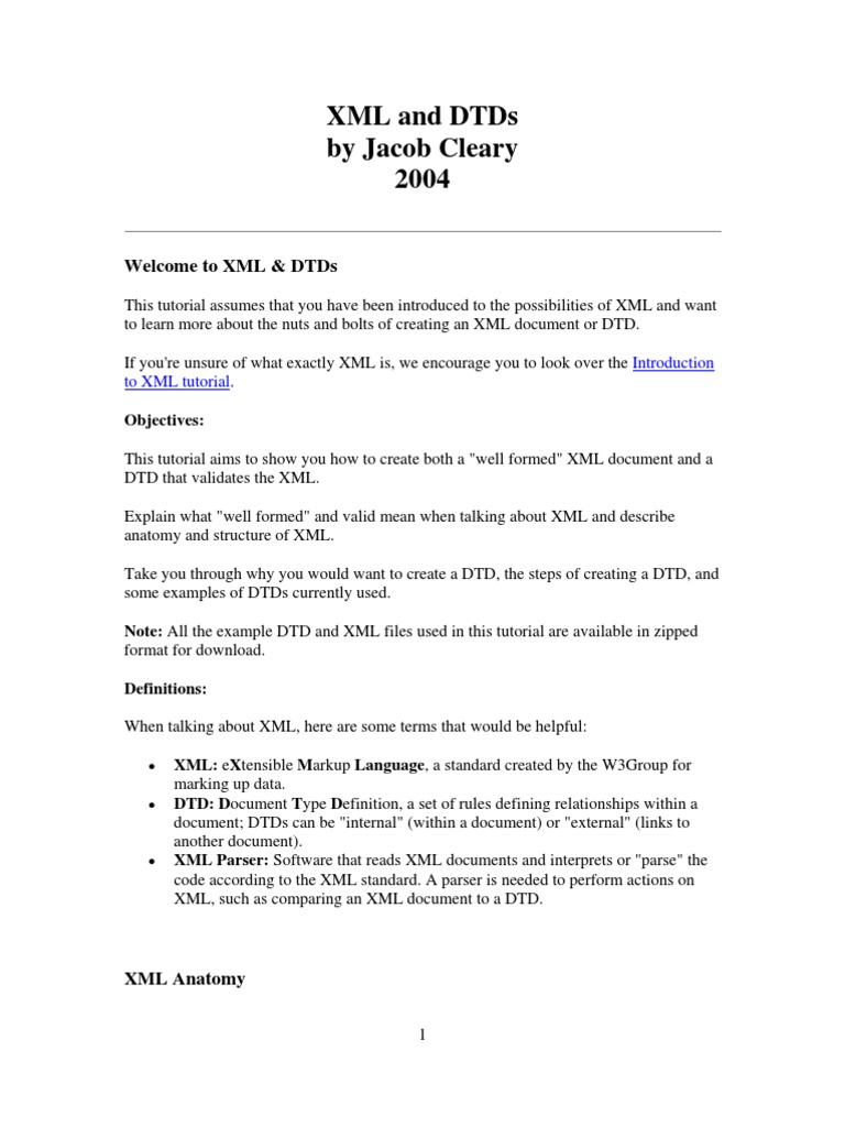 Xml Nuts and Bolts   Xml   Html
