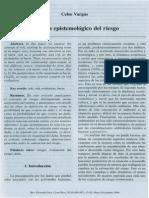 Análisis Epistemológico Del Riesgo