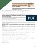 Exame de História 1º Ensino Medio Banco de Questões