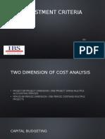 Investment Decision Criteria [PAF]