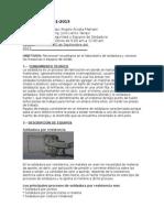 INFORME Nº 001 Lab Soldadura