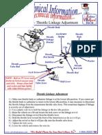 TF 8 Tech Info, Throttle Linkage Adjustment