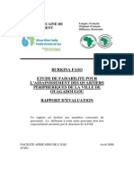 AWF Project Appraisal Report BurkinaFaso