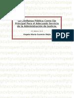 La Confianza Pública Como Eje Principal Para El Adecuado Servicio de La Administración de Justicia