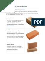 Tipos de Ladrillos Para Construcción
