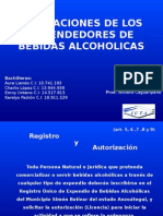 Obligaciones de Los Expendedores de Bebidas Alcoholicas