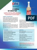 Cetane diesel fuel additive