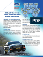 Air Induction Filters - nano fiber filtration