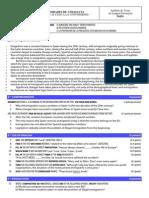 Inglés 2 - Examen y Criterios de Corrección