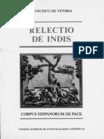 Vitoria- Relectio de Indis