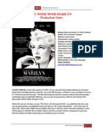 My Week With Marilyn Notes