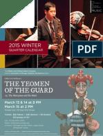 University of Chicago Winter 2015 Music Calender
