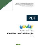 E-PWG - Padroes Brasil E-gov - Cartilha de Codificacao