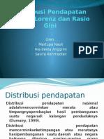 Distribusi Pendapatan (Kurva Lorenz Dan Rasio Gini Uli Ria Savira