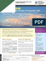 Stress Management Through Yoga 29Sep07 Singapore