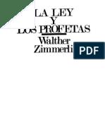 Zimmerli, Walther - La Ley y Los Profetas