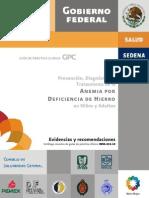 anemia por deficiencia de hierro GPC