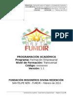 Formato Estructura Empresarial Word 2013