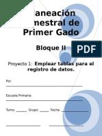 Planeación de 1er Grado - Bloque 2 - Proyecto 1