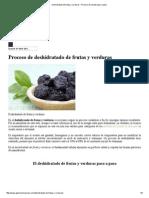 Deshidratado de Frutas y Verduras - Proceso de Secado Paso a Paso