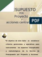 Presupuesto Por Proyectos