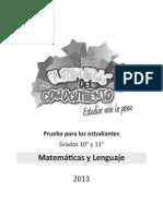 """Olimpiadas del Conocimiento """"Matemáticas"""" (2013)"""