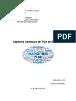 Aspectos Generales del Plan de Mercadeo_Maritza Martinez