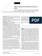 The Role of Nursing Home Admission and Dementia Status on Care for Diabetes Mellitus