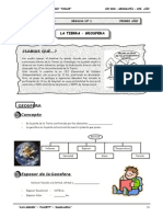 Guía Nº 1 - La Tierra - Geosfera