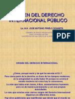 origen del derecho internacional publico primera clase  jueves a.ppt