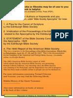 A Plea for the Protestant Canon of Scripture