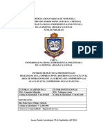 Informe de Pasantias para Optar al TItulo de Ingeniero de Gas de la UNEFA NUCLEO TRUJILLO  realizadas en PDVSA GAS ANACO-Anzoategui Venezuela.