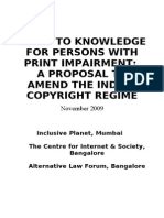 Case for Amendment of Copyright Regime in India November 22- 2009