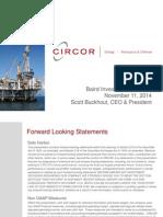 CIR Investor Presentation 11.14